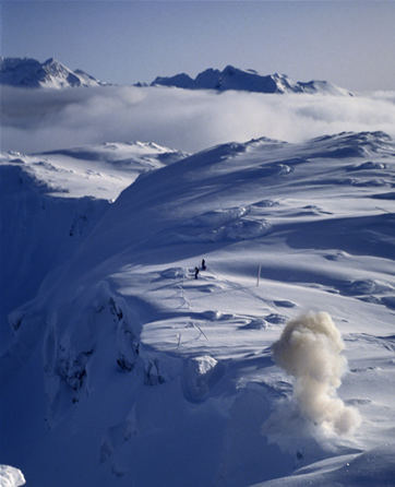 Avalanche control at Whistler/Blackcomb